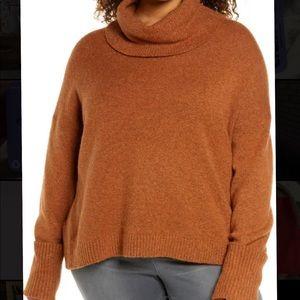 Burnt Orange Knit Turtleneck
